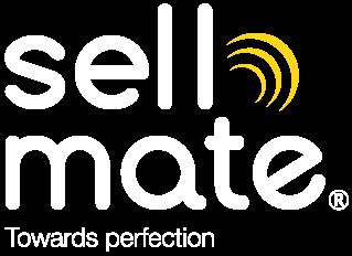 Sellmate brand logo - Transparant - Vit text